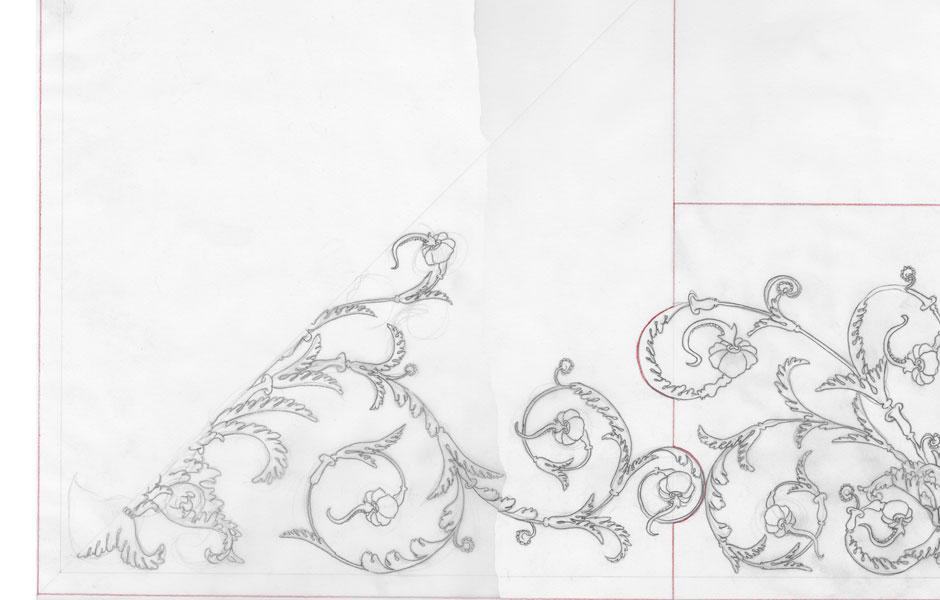 Cadogan Place Ceiling Sketch