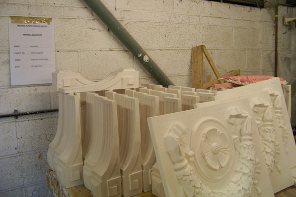 Sections of Corbels and swag plates
