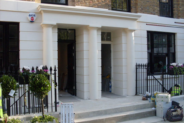 Trinity Street, London: Exterior mouldings in sand & cement on new build properties