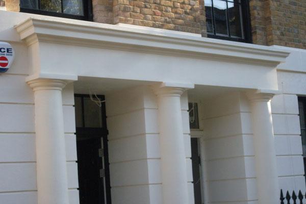 Trinity Street Sand and Cement Overdoor Cornice