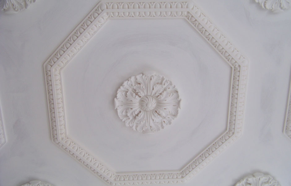 Detail of Ceiling Octagons With Egg and Dart
