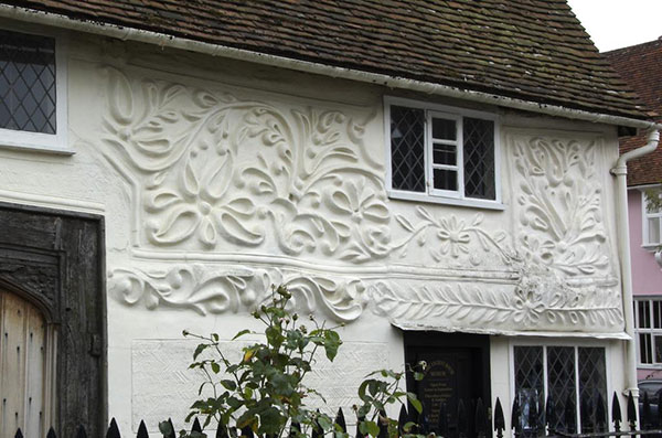 Pargetting on a house