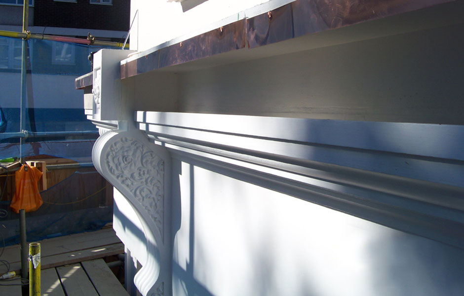 Chanel completed two part cornice with awning box