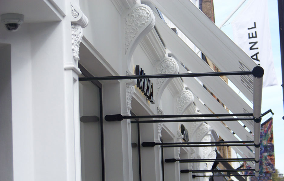 Chanel corbels and awnings