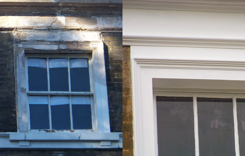 Lauriston Road Second Floor Windows Before and After